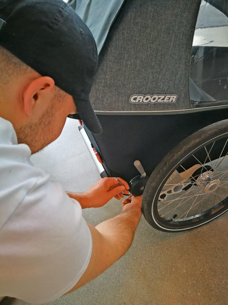 Justieren der Bremse, Bild: www.croozer.de | pd-f