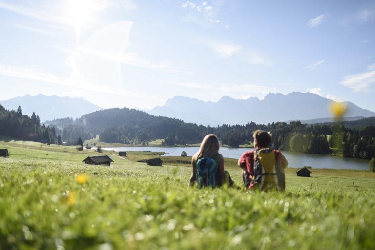 Der Ideale Ruhepunkt - Eine Wanderung zum Geroldsee bei Krün, © Alpenwelt Karwendel | Wolfgang Ehn